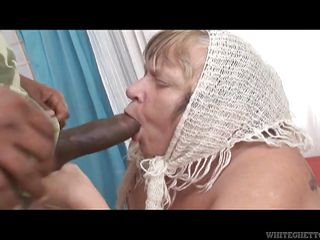 granny sucks a black penis @ grandma loves black cock