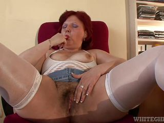 mature redhead wants to get dirty @ grandma's hairy pussy #04