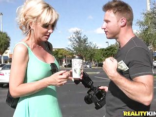 busty milf sasha was hunted and banged