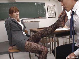 slutty asian teacher hatano, seduces horny student