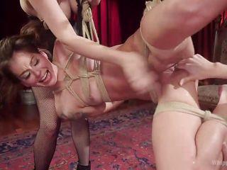 kacie and two lesbian punishers