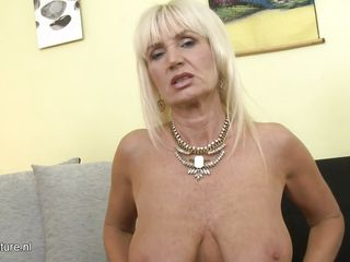 sexy granny shows of her goods