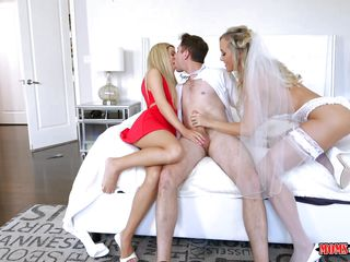 milf bride knows how to give the best blowjobs
