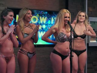 beautiful playboy models stripping in the game show @ season 1 7 ep. 806