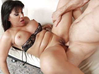 busty mercedes sucks dick and gets ass fucked