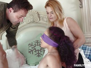 busty milf teaching sex lessons to her daughter