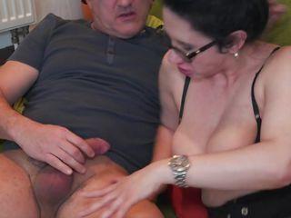 mature vixen sucks lucky guy's dick