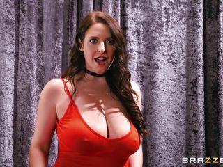 busty beauty serves highest bidder's fat cock