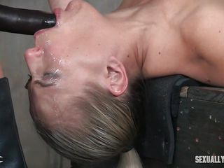 blonde slave facefucked by mistress and big cock