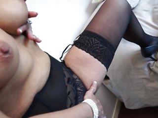 milf put on her best black stockings for you