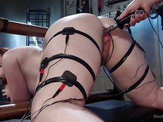 phat ass white chick gets her pussy electrocuted