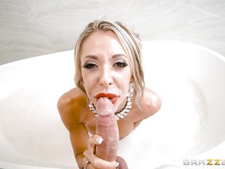 milk covered milf sucks cock