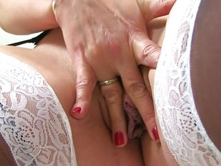mature lady has a wet pussy