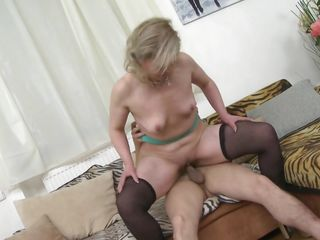 cock hungry milf rides a fat dick