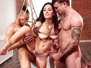 alana serving five bondage-fetish fuckers at the same time