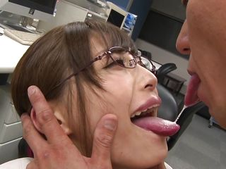 she lets her boss to fuck her, to secure her job!