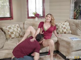 guy taking pussy juice sample from horny brunette milf's cunt
