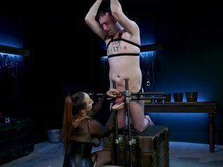 kinky redhead mistress teasing a thick cock