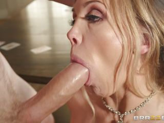 blonde housewife taking on a big dick on the top of dining table