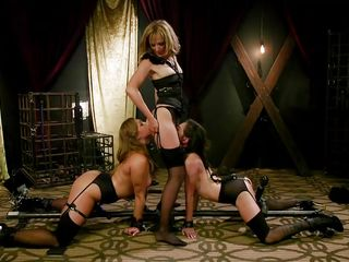 two busty slaves were whipped and dominated