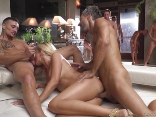 hardcore gangbang ended with cum swapping @ rocco siffredi hard academy #04