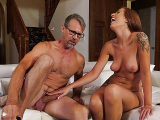 mature man still gets hard for wet pussy @ horny old men