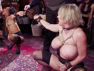 two sex slaves were tortured and face fucked