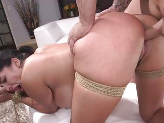 curvy latina was bound and fucked