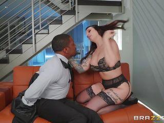 sexy brunette milf loves big black cocks