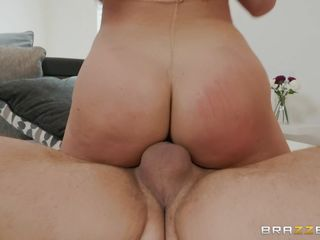 busty blonde does a great job of sucking on balls